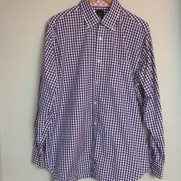 Tailorbyrd Other - Tailorbyrd Purple & White Button Down Shirt XL